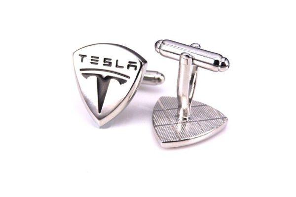 Montebello Manchetknopen Tesla - Heren - 316L Staal - Auto - ∅ 18 x 20 mm-0