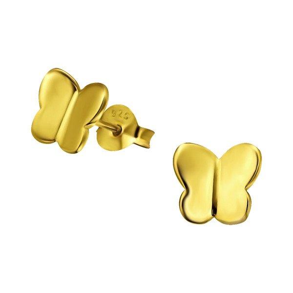 Montebello Oorbellen Vlinder - Dames - 925 Zilver Verguld - Dier - 7x7mm-0
