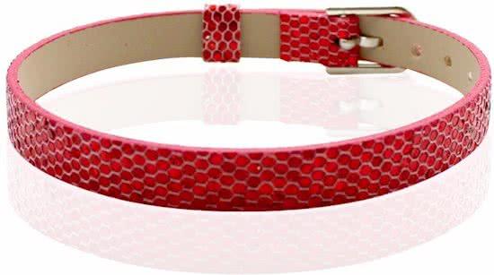 Montebello Armband Akoi Rood - Dames - PU leer - 20.5 cm-0