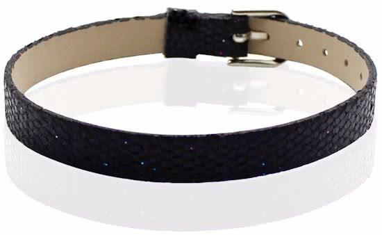 Montebello Armband Akoi Zwart - Dames - PU leer - 20.5 cm-0