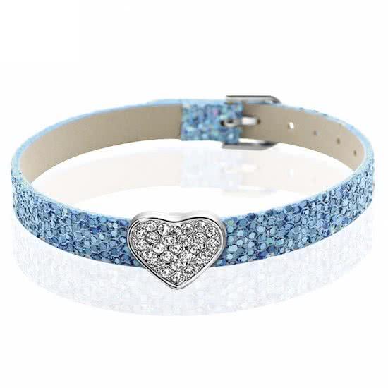 Montebello Armband Akoi BB - Dames - PU leer - Bedel - Hart - Zirkonia - 20.5 cm-0
