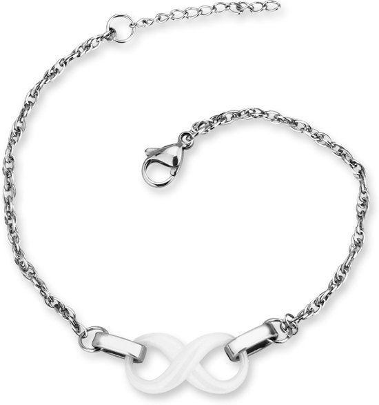 Montebello Armband Chava - Dames - Staal - Keramiek - Infinity - 18cm-0
