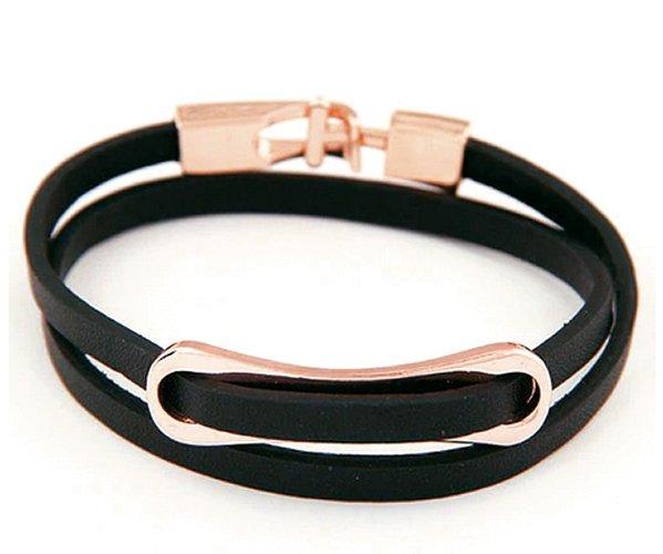Montebello Armband Keza - Dames - Leer - Messing - 37 cm-0