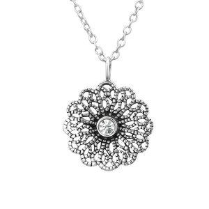 Montebello Ketting Amyra White – Dames – 925 Zilver – Zirkonia - ∅14 mm – 45 cm-0