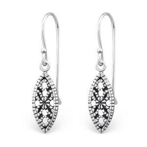Montebello Oorbellen Anahi – Dames – 925 Zilver – Geoxideerd – Druppel – 6 x 14 mm – 29 mm-0