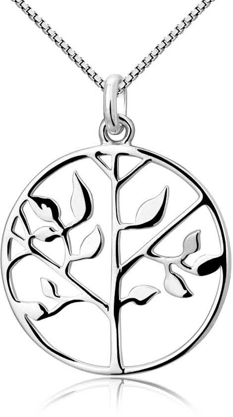 Montebello Ketting Bao - Dames - 925 Zilver - Levensboom - Rond - ∅20 mm - 45 cm-0