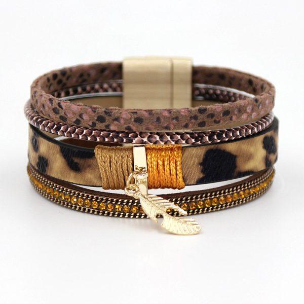Montebello Armband Bouchra - Dames - PU Leer - Zirkonia - 19cm-0