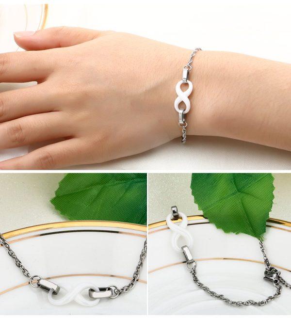 Montebello Armband Chava - Dames - Staal - Keramiek - Infinity - 18cm-10414