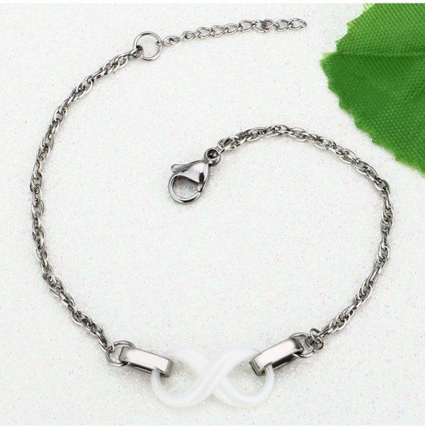 Montebello Armband Chava - Dames - Staal - Keramiek - Infinity - 18cm-10413
