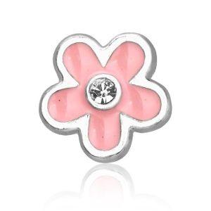 Montebello Bedel Flower pink - Dames - Metaal - Emaille - ∅12 mm-0