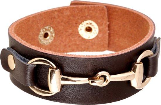 Montebello Armband Kaori - Dames - Leer - Staal - 25mm - 19cm - Aanpasbaar-0