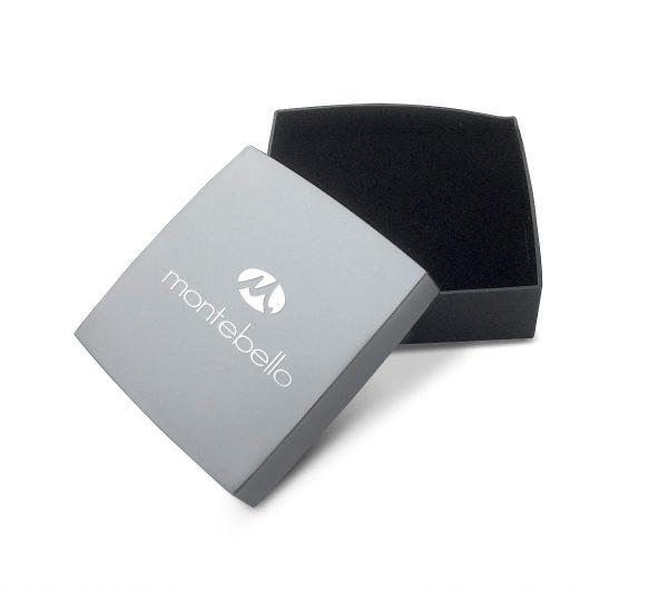 Montebello Oorbellen Anhar Black – Dames – 925 Zilver – Zirkonia - Geoxideerd – Kruis – 7 x 9 mm-10611