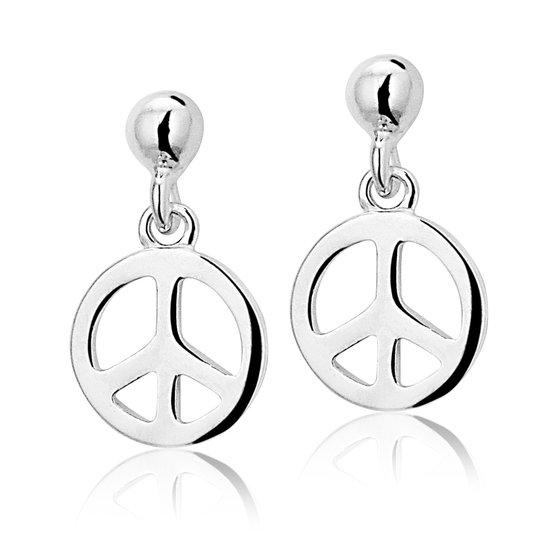 zilveren oorbellen Peace OG - Montebello juwelen-0