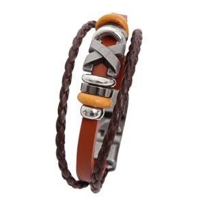 Montebello Armband Silene Brown - leer - Metaal - 20mm - 20cm-0