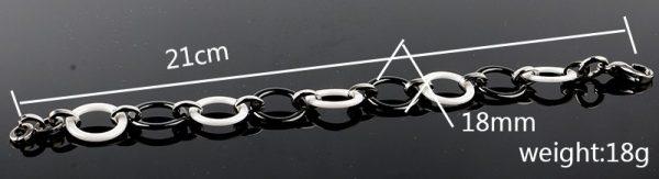 Montebello Armband Trix - Dames - Staal - Keramiek - ∅18 mm - 21cm-0