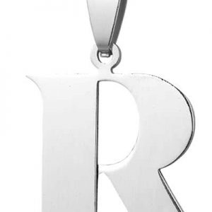 Montebello Ketting Letter R - 316L Staal - Alfabet - 18x30mm - 50cm-0