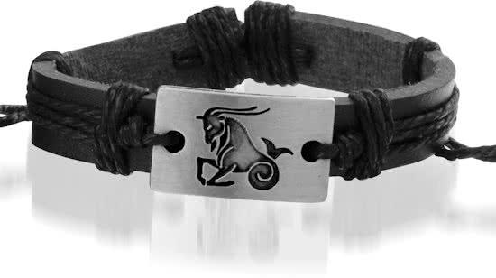 Montebello Armband Steenbok - Unisex - Leer - Metaal - ∅20 - 23 cm-0