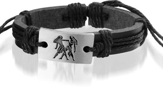 Montebello Armband Tweeling - Unisex - Leer - ∅20-23cm (aanpasbaar)-0