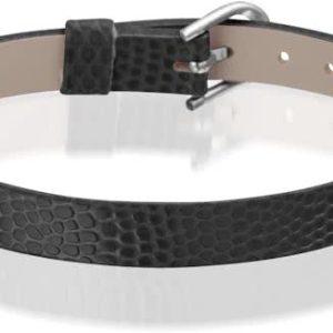Montebello Armband Anass Zwart - Dames - Leer - Metaal - 20.5 cm-0