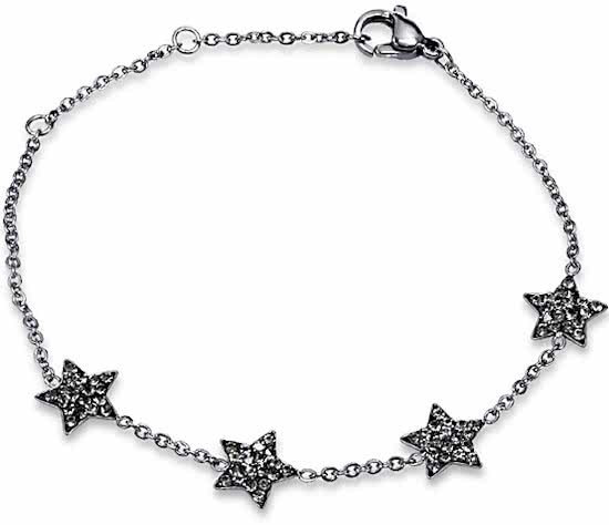 Montebello Armband Alana - Dames - 316L Staal - Zirkonia - Ster - 17 cm-0