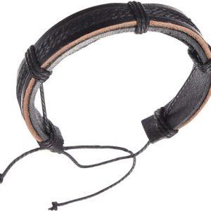Montebello Armband Acis - Unisex - Leer - ∅20 - 23 cm-0