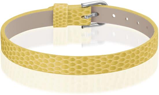 Montebello Armband Anass Geel - Dames - Leer - Metaal - 20.5 cm-0