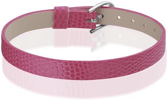 Montebello Armband Anass Fuchsia - Dames - Leer - Metaal - 20.5 cm-0