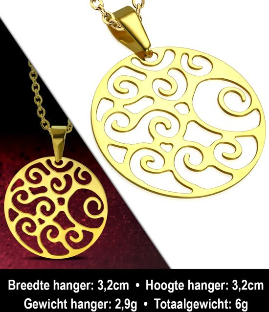 Montebello Ketting Aster - Dames - 316L Staal - Rond - ∅32 mm - 50 cm-11235