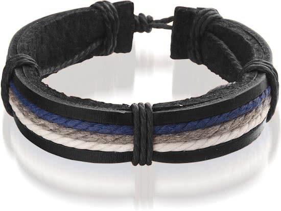 Montebello Armband Acis Blue - Unisex - Leer - ∅20 - 23 cm-0