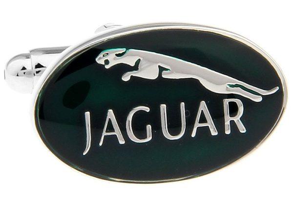 Montebello Manchetknopen Jaguar - Heren - Metaal - Ovaal - 20 x 13 mm-10960