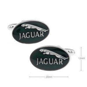 Montebello Manchetknopen Jaguar - Heren - Metaal - Ovaal - 20 x 13 mm-0
