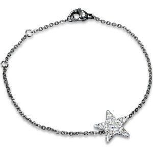 Montebello Armband Vian - Dames - Staal - Ster - 13mm - 17+3cm-0