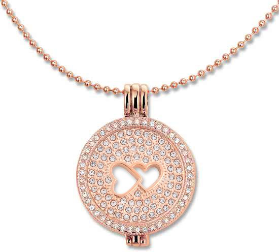 Montebello Ketting Kady - Dames - 316L Staal - Zirkonia - Hart - 3-delige - Coin - 80 cm-0