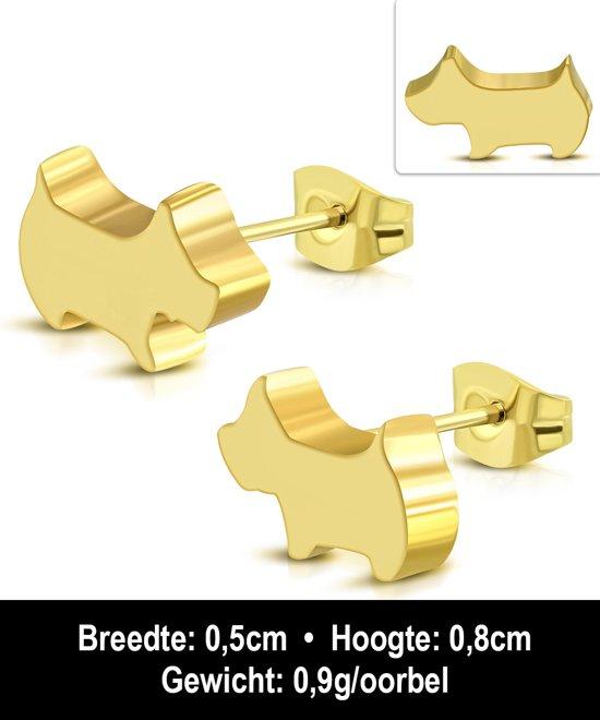 Montebello Oorbellen Aya - Dames - Staal PVC - Hond - 8x5mm -11329