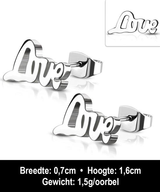Montebello Oorbellen Ayca - Dames - 316L Staal PVC - Love - 16 x 7 mm -11327