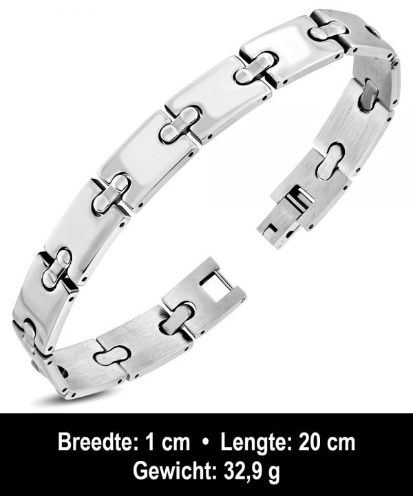 Amanto Armband Abshir - Heren - 316L Staal - 10 mm - 20 cm-11722