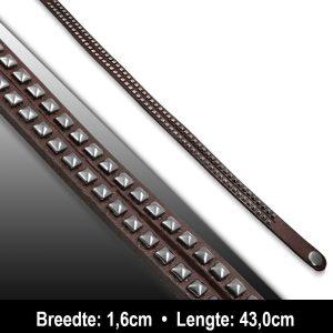 Amanto Armband Aiman - Heren - Leer - Studs - 16 mm - 43 cm-11611
