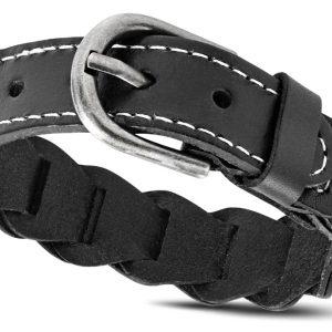 Amanto Armband Agim Black - Heren - Leer - 20mm - 24cm-0