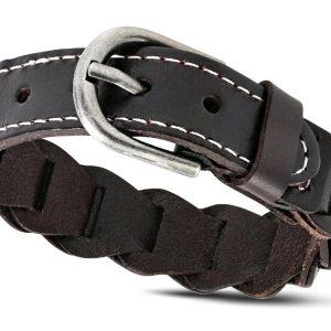 Amanto Armband Agim - Heren - Leer - 20 mm - 24 cm-0