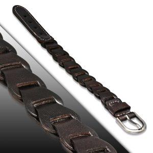 Amanto Armband Agim - Heren - Leer - 20 mm - 24 cm-11635