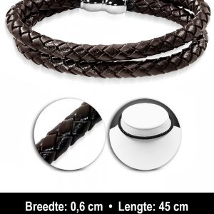 Amanto Armband Aivan Brown - Unisex- Choker - Leer-6mm-45cm-11592