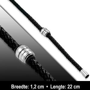 Amanto Armband Ajib - Heren - Leer - 12 mm - 22 cm-11575