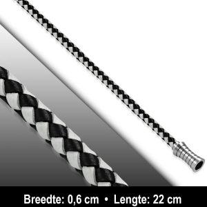 Amanto Armband Ajdin - Heren - Leer - 6 mm - 22 cm-11578
