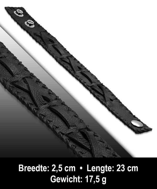 Amanto Armband Ahad - Heren - Leer - 25 mm - 23 cm-11627