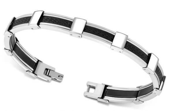 Amanto Armband Addis - Heren - 316L Staal - Rubber - 9 mm - 21 cm-11694