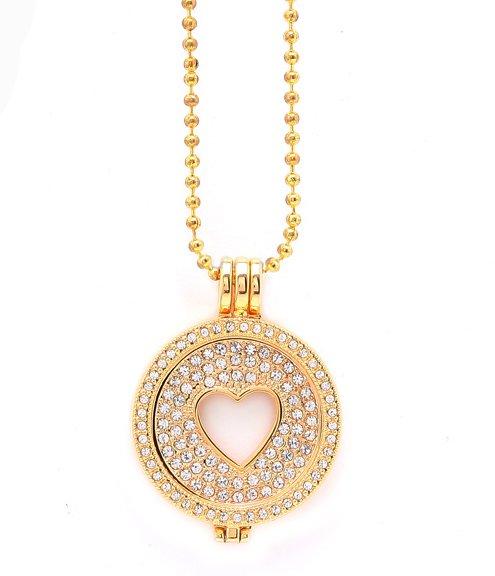 Montebello Ketting Lactuca Gold - Dames - 316L Staal - Zirkonia - Hart - 3-delige - Coin - 80 cm-0
