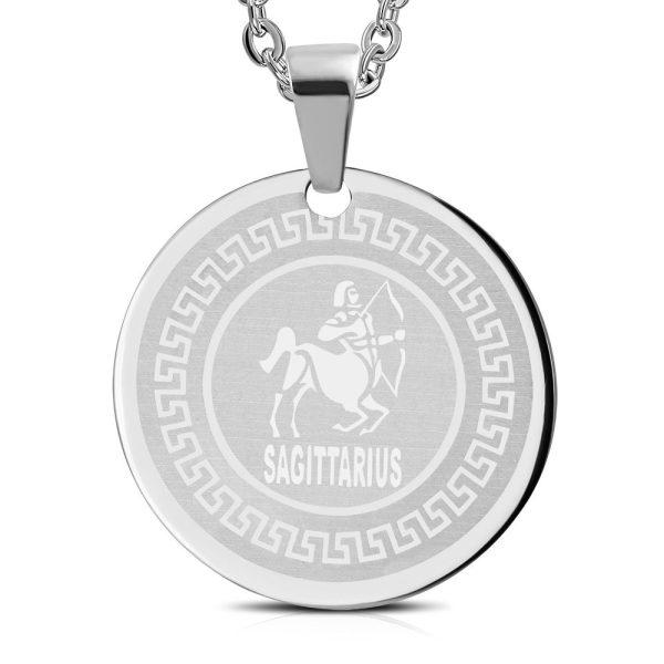Amanto Ketting Boogschutter - Heren - 316L Staal - Horoscoop - ∅ 30 mm - 60 cm-0