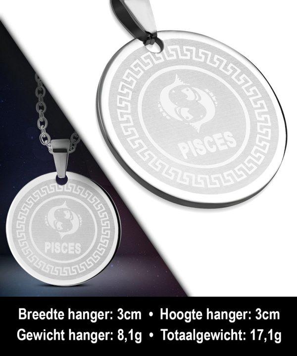 Amanto Ketting Vissen - 316L Staal - Horoscoop - ∅30mm - 60cm-12152