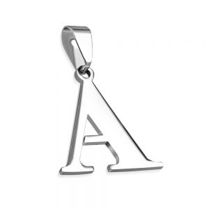 Amanto Ketting Letter A - Heren - 316L Staal - Alfabet - 23 x 25 mm - 60 cm-0
