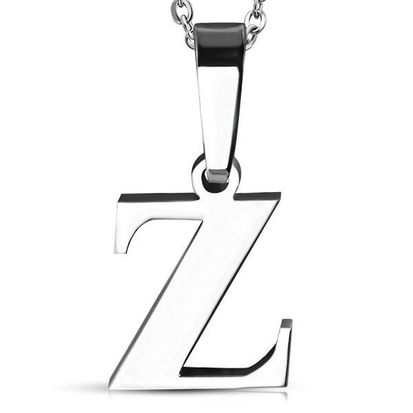 Amanto Ketting Letter Z - Heren - 316L Staal - Alfabet - 12 x 13 mm - 50 cm-0